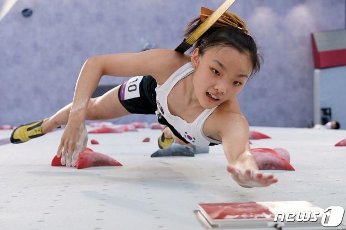서채현이 2020 도쿄 올림픽 스포츠클라이밍 콤바인 결선을 통해 메달에 도전한다. © AFP=뉴스1