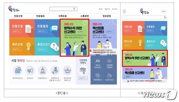 코로나19 방역수칙 위반신고센터 접속방법(서울시제공)© 뉴스1