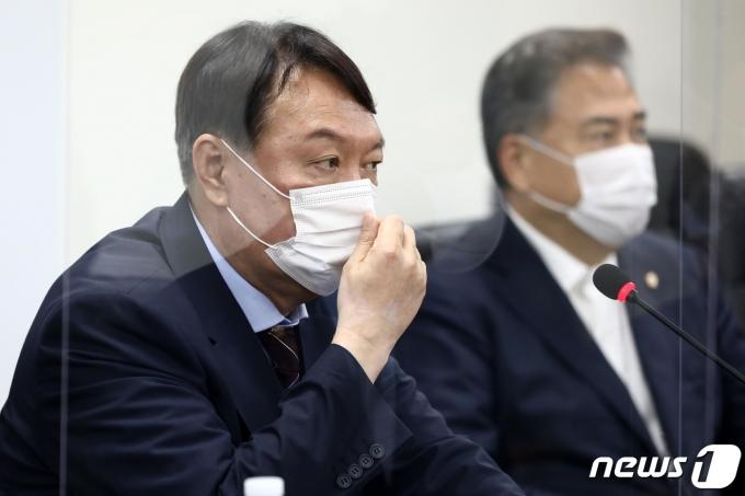 야권 대선주자인 윤석열 전 검찰총장. 2021.7.30/뉴스1 © News1 구윤성 기자