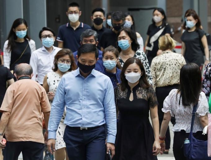 싱가포르의 신종 코로나바이러스 감염증(코로나19) 백신 완전 접종률이 80%를 돌파했다는 보도가 나왔다. 사진은 지난 5월12일 싱가포르 한 시내의 모습. /사진=뉴스1