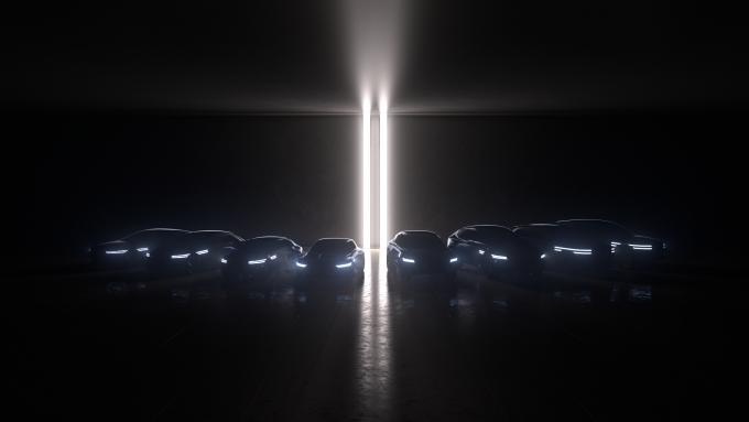 제네시스가 브랜드 비전을 담은 '퓨처링 제네시스'(Futuring Genesis)를 온라인으로 발표했다. 사진은 제네시스가 오는 2030년까지 완성하게 될 총 8개의 수소 전기차와 배터리 전기차 라인업. /사진=제네시스