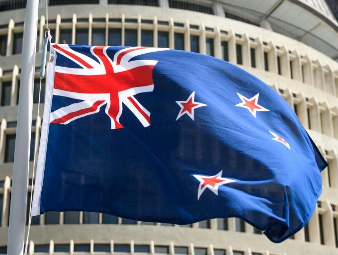 뉴질랜드의 한 쇼핑몰에서 6명에게 상처를 입힌 남성이 경찰의 총에 맞고 숨졌다고 보도했다. 사진은 지난해 11월 뉴질랜드 웰링턴에서 찍힌 뉴질랜드 국기. /사진= 로이터