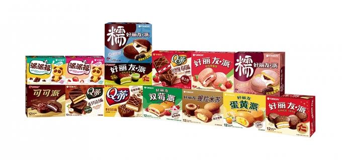 중국 현지에서 판매되는 제과 제품들/사진제공=오리온