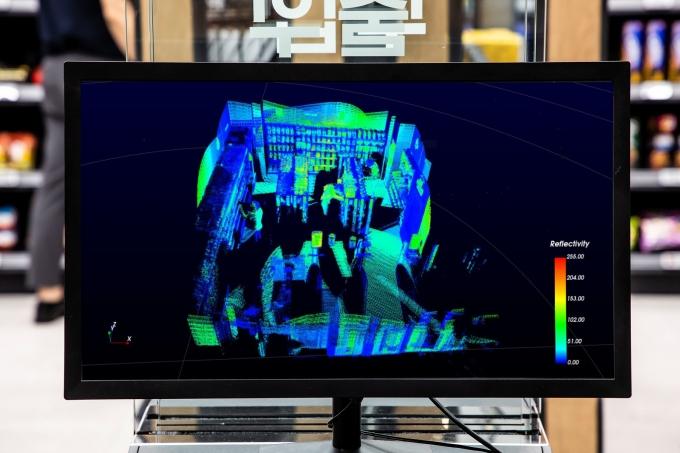 실증매장의 라이다 촬영 화면. /사진제공=신세계I&C