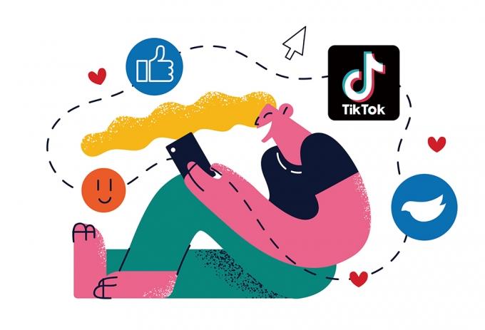 디지털 분석 업체 앱 애니에 따르면 2020년 앱 내려받기 건수에서 중국 바이트댄스가 운영하는 '틱톡'이 페이스북을 제치고 1위로 올라서는 등 전 세계 Z세대 사이에서 가장 '핫'한 소셜미디어 플랫폼으로 평가받고 있다. /사진=이미지투데이