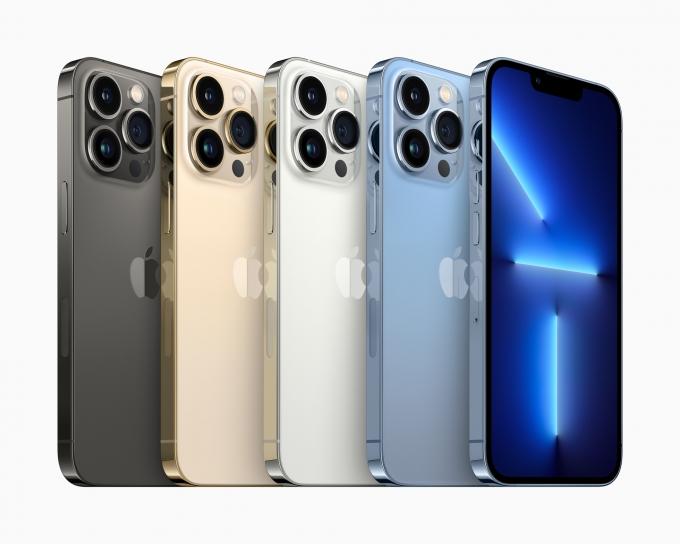 아이폰13 프로와 아이폰13 프로맥스의 4종 색상. /사진제공=애플