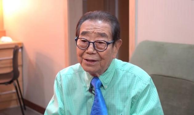 '국민 MC' 송해가 오랜만에 반가운 근황을 공개했다. /사진=근황올림픽 유튜브 캡처