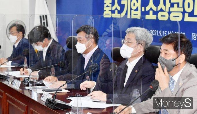 """[머니S포토] 당정 윤호중 """"위드 코로나' 대비, 방역·민생·경제 함께 할 것"""""""
