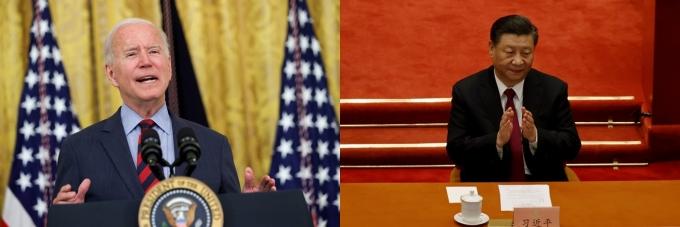 조 바이든 미국 대통령(왼쪽)이 시진핑 중국 국가주석(오른쪽)에게 대면 정상 회담을 제안했지만 무산된 사실이 알려졌다. /사진=로이터
