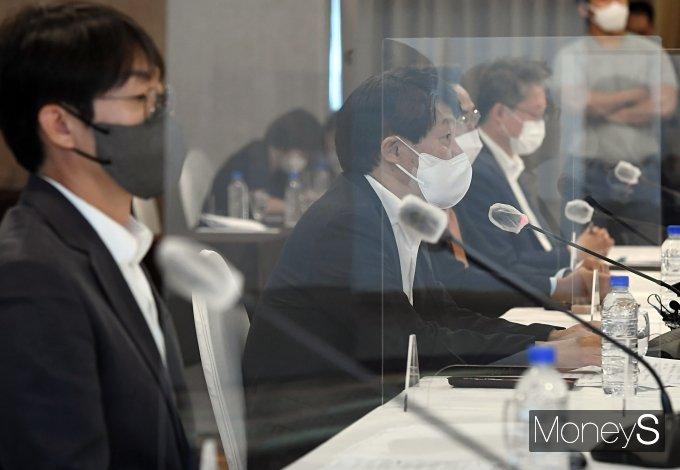 [머니S포토] 주요 IT기업 CEO 회의 갖는 안경덕 장관