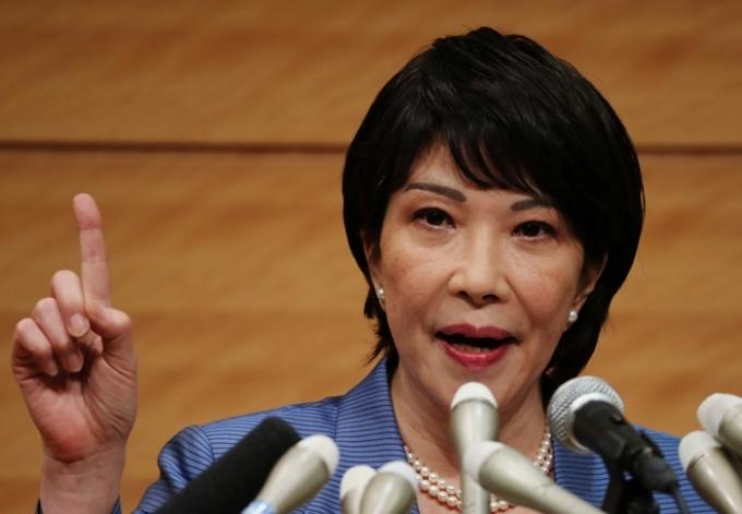 다카이치 사나에 전 일본 총무상(사진)이 일본군 위안부와 강제징용 문제와 관련해 한국이 발신하는 정보가 부적절하다고 말했다. /사진=로이터