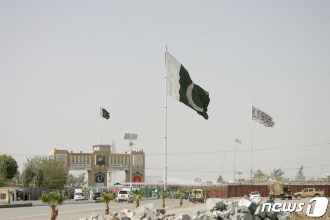 파키스탄 국기. © 로이터=뉴스1 © News1 정윤영 기자