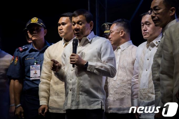로두리고 두테르테 필리핀 대통령이 2017년 '마약과의 전쟁'을 계속 추진할 것이라 밝혔다. © AFP=뉴스1 © News1 우동명 기자