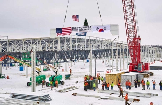 LG에너지솔루션-GM 합작법인 '얼티엄셀즈' 미국 오하이오주 배터리 공장 건설 현장. /사진=LG에너지솔루션