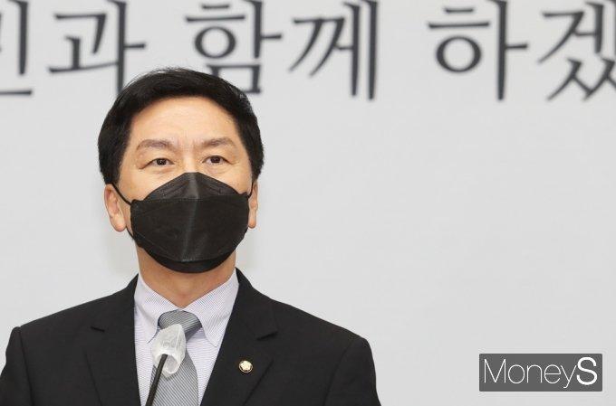 [머니S포토] 국민의힘 긴급현안 보고, 김기현 원내대표의 발언