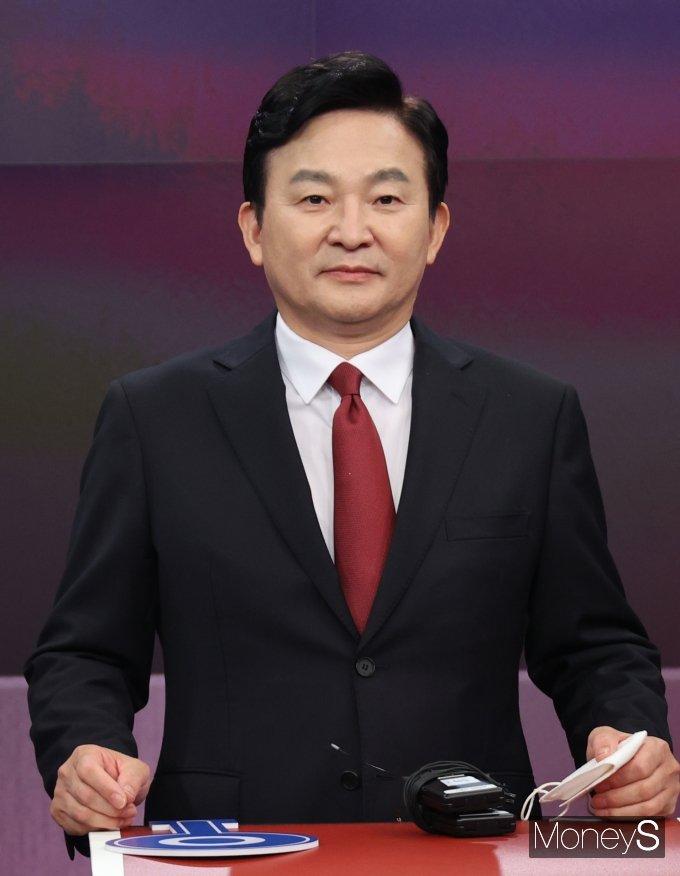 [머니S포토] 방송토론회 참석한 원희룡