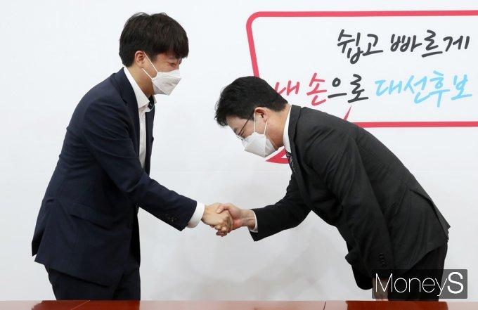 [머니S포토] 野 잠룡 유승민, 이준석 대표 면담