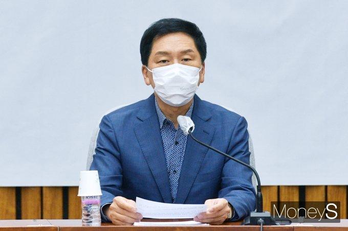 [머니S포토] 李 대장동 게이트 의혹 관련 발언하는 野 김기현