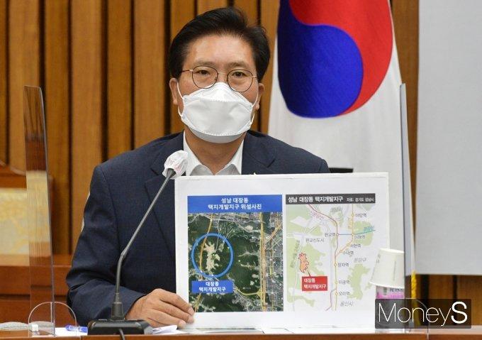 [머니S포토] 대장동 게이트 관련 발언하는 국힘 송석준