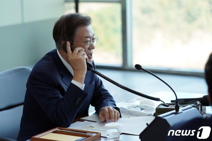 문재인 대통령. (청와대 제공) 2021.9.15/뉴스1 © News1 유승관 기자