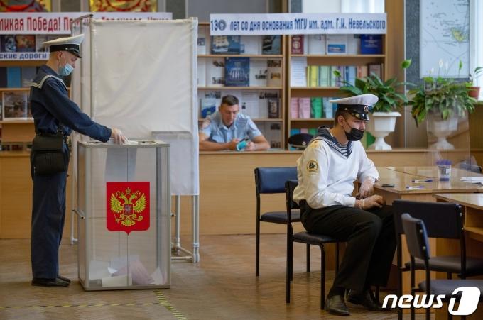 러시아가 17일 총선에 돌입했다. © 로이터=뉴스1 © News1 정윤영 기자