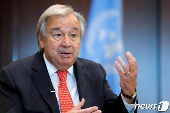 안토니오 구테흐스 유엔 사무총장. © 로이터=뉴스1 © News1 정윤영 기자