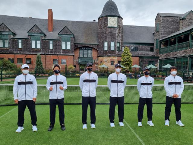 데이비스컵에 출전한 한국 남자 테니스 국가대표팀(대한테니스협회 제공)© 뉴스1