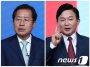 '대장동 개발지' 찾는 홍준표…원희룡은 '고향' 제주行