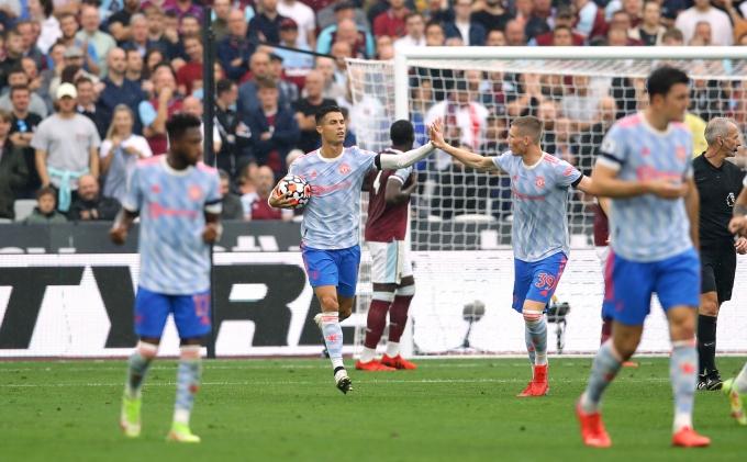 맨체스터 유나이티드 크리스티아누 호날두가 3경기 연속 골을 넣었다. / 사진=로이터