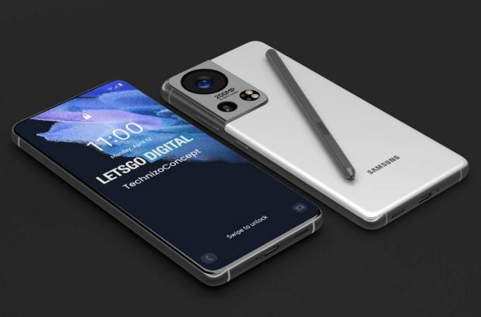 삼성전자가 내년 선보일 차기 플래그십 스마트폰 갤럭시S22는 화면 크기가 지금보다 작아질 전망이다. 사진은 갤럭시S22 렌더링이미지. /사진=렛츠고디지털