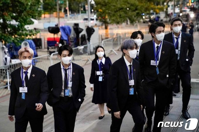 [사진] UN총회 참석하는 BTS