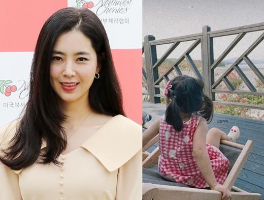 배우 한채아는 지난 20일 인스타그램 스토리에 딸의 뒷모습이 담긴 사진을 게재했다. /사진=뉴스1, 한채아 인스타그램