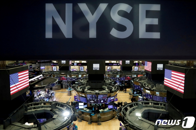 뉴욕증권거래소 내부 객장 © 로이터=뉴스1
