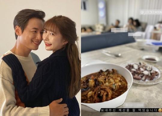 가수 겸 배우 이지훈의 아내 아야네가 음식 솜씨를 뽐내 눈길을 끌고 있다./사진=이지훈 SNS