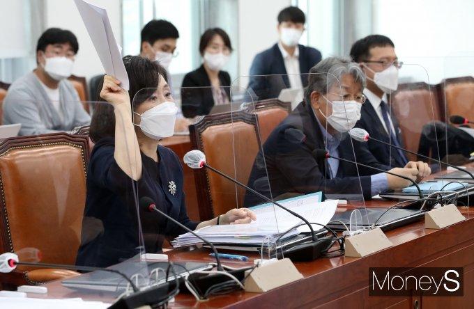 [머니S포토] 전주혜 의원, 언론중재법 여야 협의체 9차 회의 발언