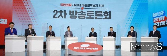 [머니S포토] 한자리에 모인 국민의힘 대선 경선 후보들
