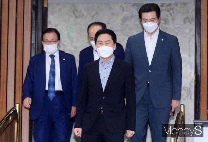 [머니S포토] 대장동 개발비리 의혹 등 국민의힘 원내책회의