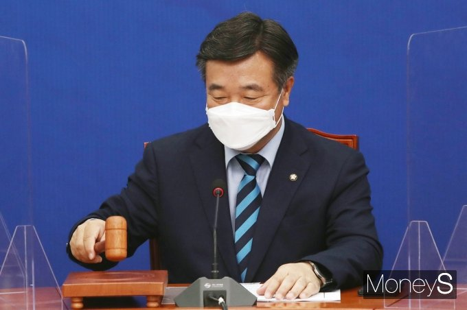 [머니S포토] 윤호중 원내대표 주재 與 최고위 회의