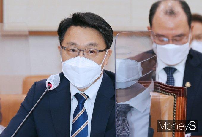 """[머니S포토] 공수처 김진욱 """"수사기관으로서 수사 필요성과 상당성 있을시 증거찾아 수사 할 것"""""""