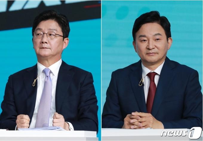 국민의힘 대권주자인 유승민 전 의원(왼쪽)과 원희룡 전 제주도지사.© 뉴스1