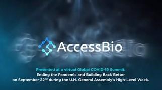 엑세스바이오는 지난 22일 제76차 유엔총회 프로그램으로 조 바이든 미국 대통령이 주최한 '신종 코로나바이러스 감염증(코로나19) 화상회의'에 특별 초대를 받고 참석했다고 27일 밝혔다. /사진=엑세스바이오