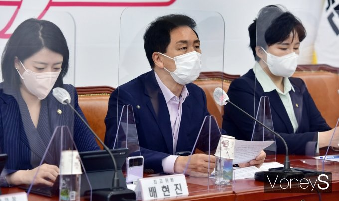 """[머니S포토] 野 김기현 """"與, 언론법 강행처리시 끝까지 투쟁할 것"""""""