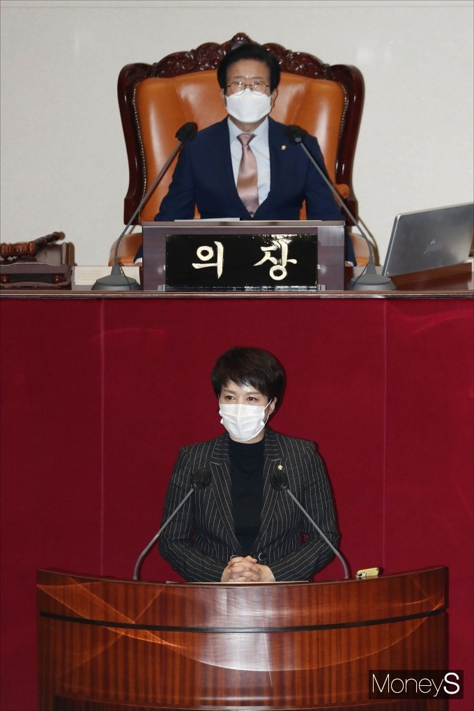 [머니S포토] 국힘 김은혜, 대장동 개발 관련 자유발언