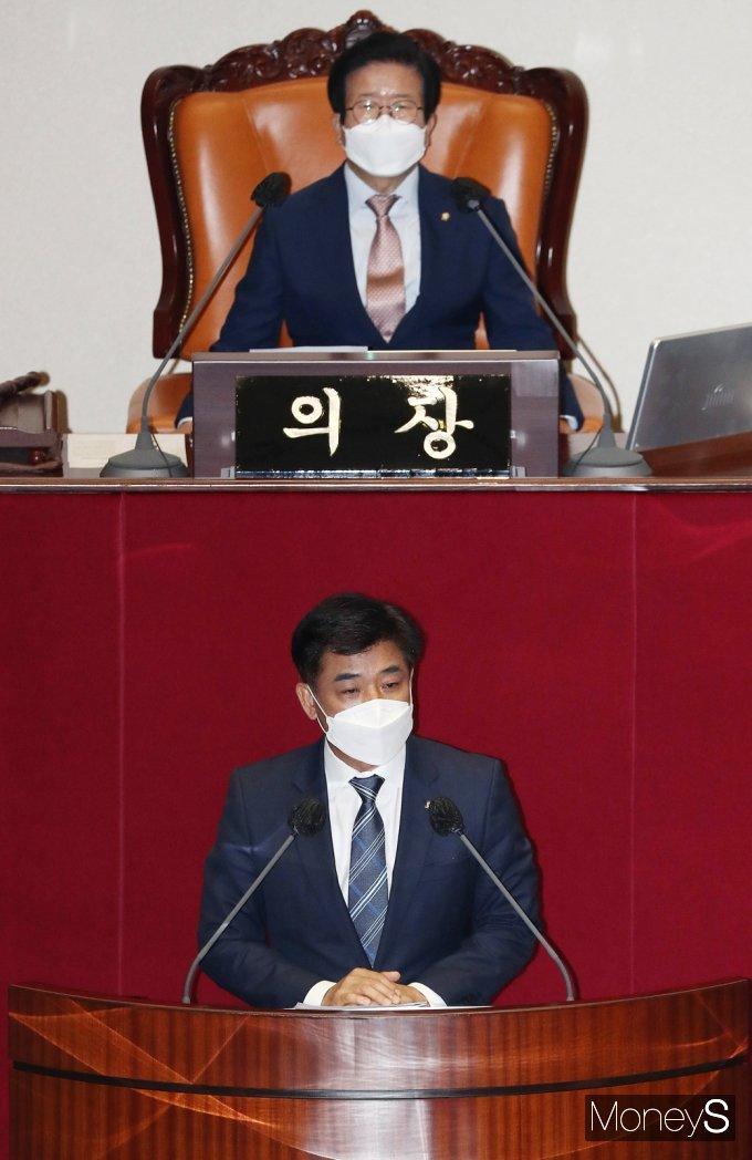 [머니S포토] 민주당 김병욱, 대장동 개발 관련 자유발언