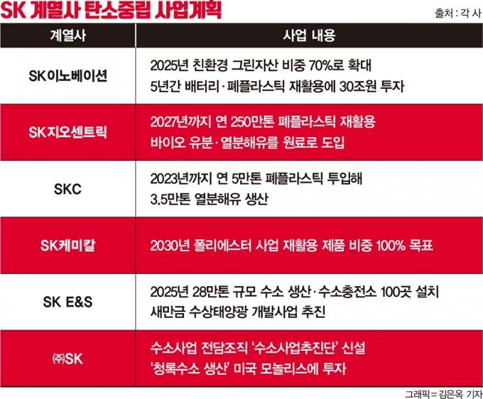 '친환경' 입는 SK… 최태원式 '파이낸셜 스토리' 본격화