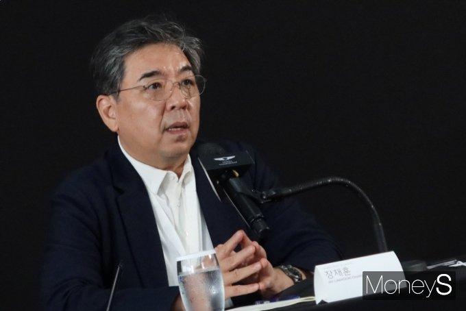 장재훈 사장은 한국 남자 골프의 가능성을 높이 평가하며 지속 후원을 밝혔다. /사진=박찬규 기자