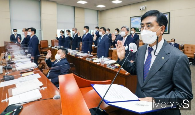 [머니S포토] '근로복지공단·안전보건공단'등 2021 환노위 국감