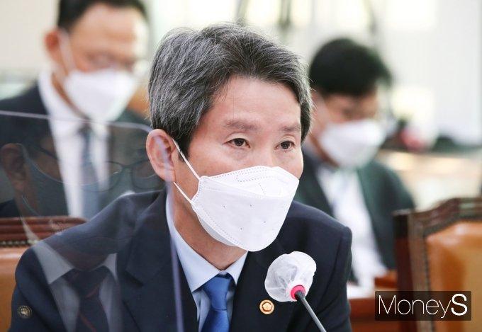 """[머니S포토] 이인영 """"北 백신 지원, 국민들 나름대로 공감대 있어"""""""