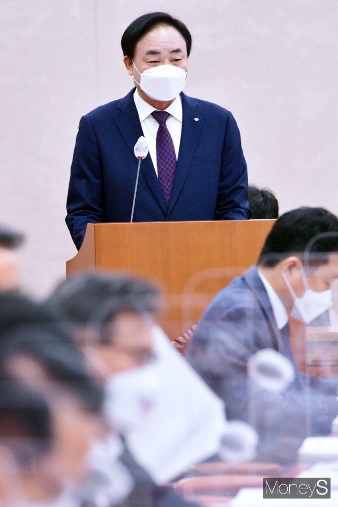 """[머니S포토] 2021 국감, 수협 임준택 """" 어민 보호 대책 필요"""""""