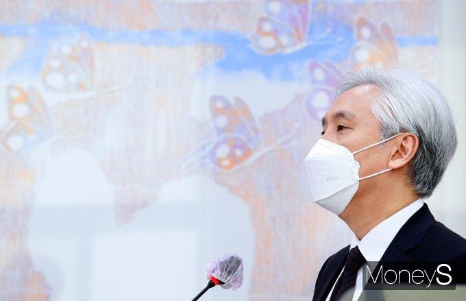 [머니S포토] 2021 문체위 국감, 업무보고하는 김대진 한예종 총장